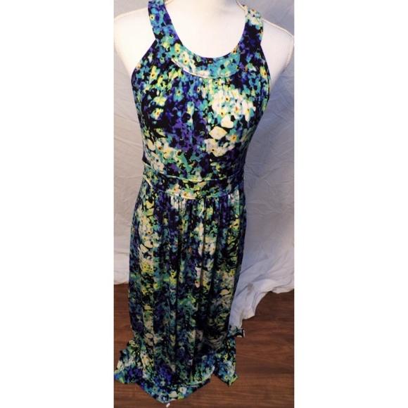 491873482da Calvin Klein Dresses   Skirts - Calvin Klein Purple Blue Green Floral Maxi  Dress